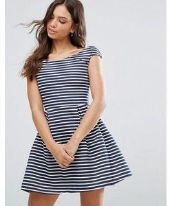 Wal G | Короткое Приталенное Платье В Полоску