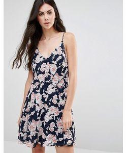 Greylin | Короткое Приталенное Платье С Принтом Serina