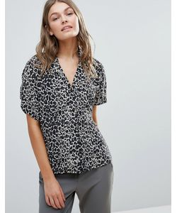 Selected | Celiva Printed Silk Blouse