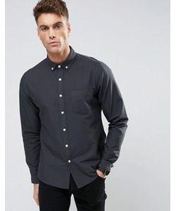 Asos | Темно-Синяя Оксфордская Рубашка На Каждый День