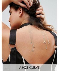 ASOS CURVE | Ожерелье-Чокер С Подвесками В Форме Луны И Звезды