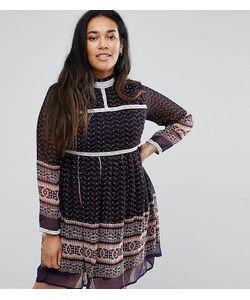 Diya | Платье С Принтом И Кружевной Отделкой