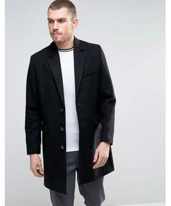 Asos | Черное Полушерстяное Пальто
