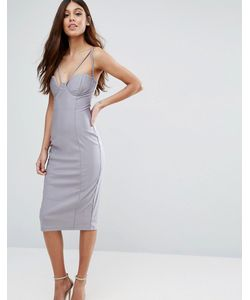Rare | Платье Миди На Бретелях С Чашечками И Вырезами