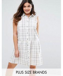 Junarose | Короткое Приталенное Платье В Клетку Без Рукавов