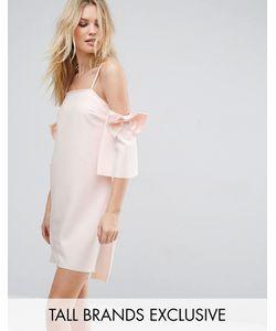 True Decadence Tall | Платье Мини С Открытыми Плечами И Бантами На Рукавах True Decadence