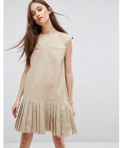 Weekday   Платье С Плиссированным Подолом