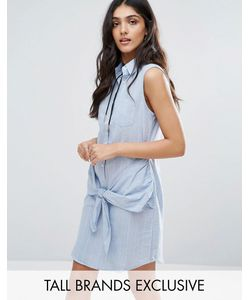Glamorous Tall   Джинсовое Платье С Запахом Спереди