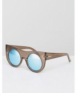 Minkpink | Массивные Солнцезащитные Очки Кошачий Глаз С Зеркальными Стеклами