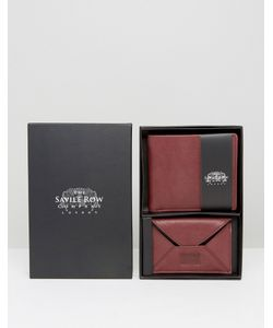 Saville Row | Saville Leather Wallet And Card Holder With Suede Inner Set