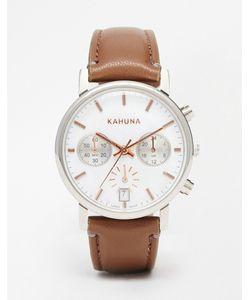 Kahuna | Часы С Коричневым Ремешком