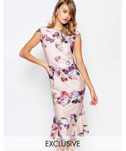 True Violet | Платье-Футляр С Цветочным Принтом Многоцветный Цветочный