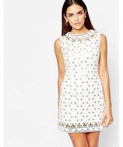Rare Opulence | Цельнокройное Платье С Отделкой Пайетками И Камнями
