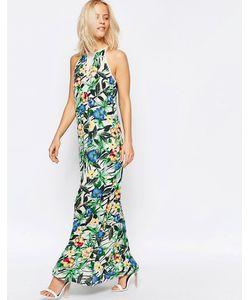 Girls On Film | Платье Макси С Тропическим Цветочным Принтом