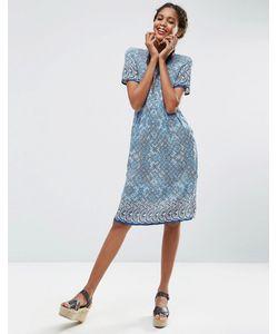 ASOS Africa | Платье-Рубашка Миди С Принтом X Chichia Мульти