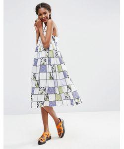 ASOS Africa | Платье Миди С Широкой Юбкой И Решетчатым Принтом X