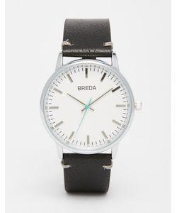 Breda | Часы С Черным Кожаным Ремешком Zapf