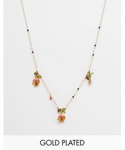 Les Nereides | Ожерелье С Эмалированной Цветочной Отделкой