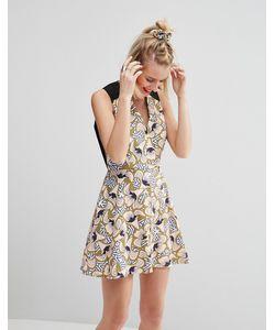 ASOS Africa | Приталенное Платье Мини С Цветочным Принтом X Chichia