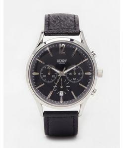 Henry London | Часы С Хронографом И Кожаным Ремешком Edgeware Черный