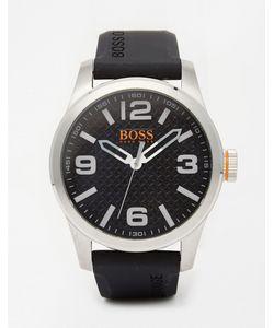 BOSS Orange | Часы С Черным Силиконовым Ремешком Paris Черный
