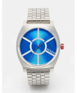 Nixon x Star Wars | Часы R2-D2 Time Teller Серебряный