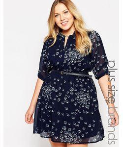 Yumi Plus | Платье Размера Плюс С Цветочным Принтом И Поясом Yumi