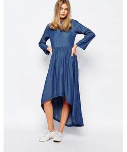 Rollas | Джинсовое Платье С Асимметричным Подолом