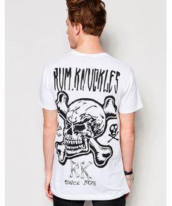 Rum Knuckles | Футболка С Костями И Черепом Rk Белый