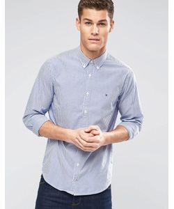 Tommy Hilfiger | Синяя Оксфордская Рубашка Классического Кроя В Полоску Синий