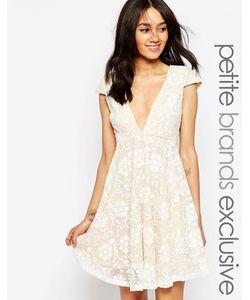 Jarlo Petite | Свободное Платье С Глубоким Вырезом Hartley Кремовый