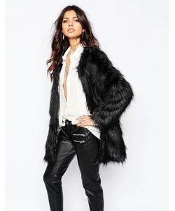 Unreal Fur | Черное Пальто Wanderlust