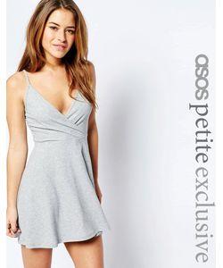 ASOS PETITE | Короткое Приталенное Платье В Рубчик С Запахом Спереди
