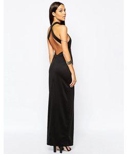AQ AQ | Платье Макси С Открытой Спиной Izzo Черный