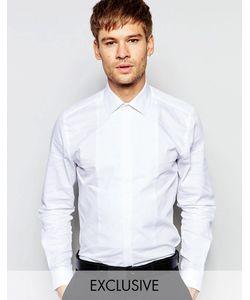 Number Eight Savile Row | Вечерняя Рубашка Скинни С Нагрудной Вставкой