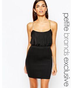 Lipstick Boutique Petite | Облегающее Платье С Перекрестными Цепочками Сзади Черный