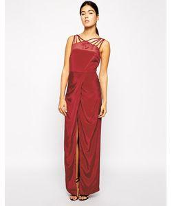 VLabel London | Платье Макси С Отделкой Решетка На Вороте Derry