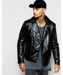 Dark Future | Асимметричная Байкерская Куртка Из Искусственной Кожи