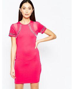 Girl In Mind | Облегающее Платье С Декоративной Отделкой