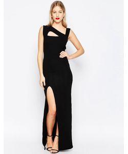 Honor Gold | Платье Макси С Вырезами И Боковым Разрезом Черный