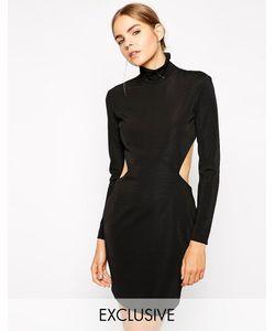Solace | Платье Мини С Вырезами И Высокой Горловиной London Taboo