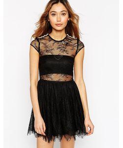 Ukulele | Короткое Приталенное Платье Из Кружева Irina