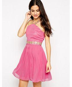 VLabel London | Платье С Завязкой На Шее И Отделкой V Label Sloane