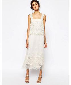 Soma London | Многослойное Ажурное Платье Макси
