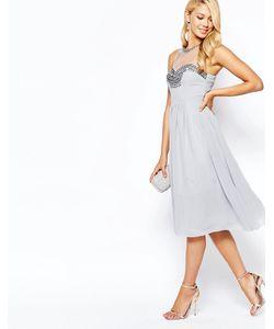Little Mistress | Шифоновое Платье Для Выпускного С Отделкой На Груди