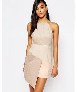 Rare | Платье Из Искусственной Замши С Асимметричной Кромкой London