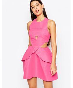 AQ AQ | Платье Мини Со Складками Спереди Aqaq Daria Pretty Pink