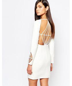 8th Sign | Платье-Футляр С Ромбовидным Вырезом На Спине The Белый