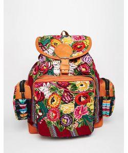 Hiptipico | Рюкзак Ручной Работы С Гобеленовым Цветочным Принтом Цветочный Тканый