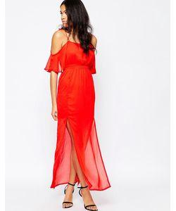 Mela Loves London   Платье С Полупрозрачным Верхним Слоем